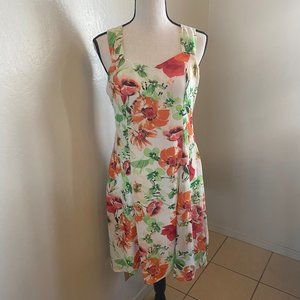 NWT R&K Floral Spring Dress Size 10P